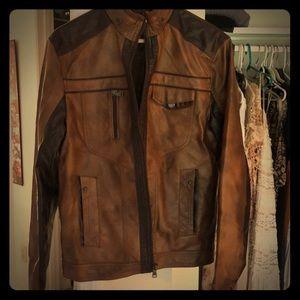 "Mens small ""non leather"" coat"